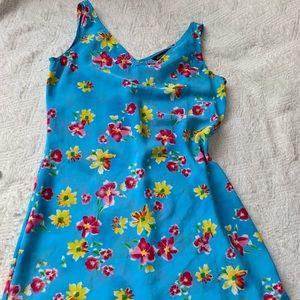 Jonathan Martin Blue Dress floral pattern size 7